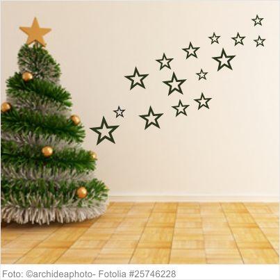 Wandtattoo Weihnachten - Sterne 15er Set