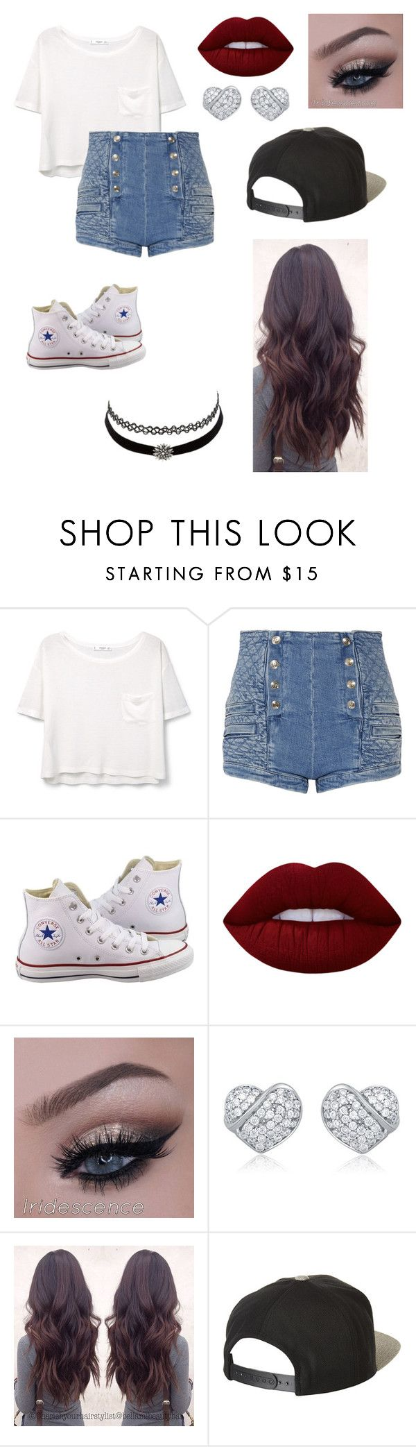 """""""Untitled #63"""" by paigevjacobs on Polyvore featuring MANGO, Pierre Balmain, Converse, Lime Crime, Charlotte Russe and Brixton"""
