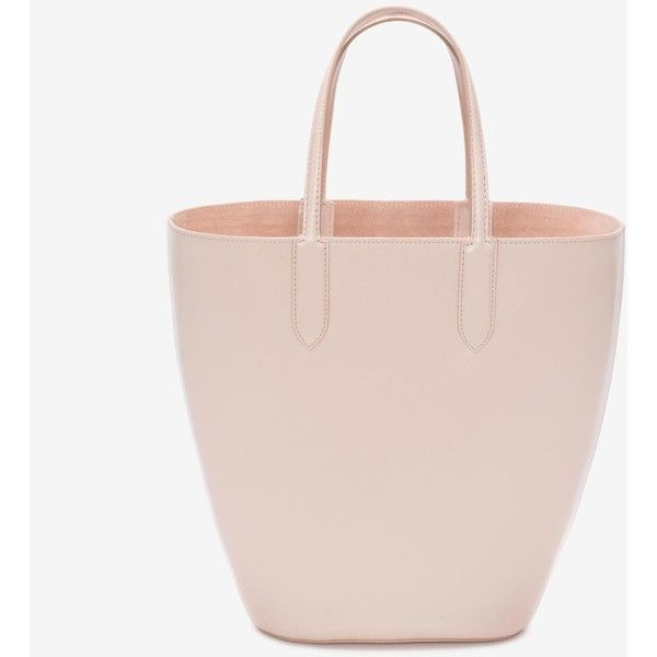 Alexander McQueen Small Basket Bag ($1,245) ❤ liked on Polyvore featuring bags, handbags, teint, alexander mcqueen purse, pink purse, alexander mcqueen bags, alexander mcqueen and pink handbags