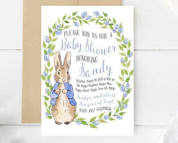 Peter Rabbit Invitations Baby Shower Invitation Baby Shower