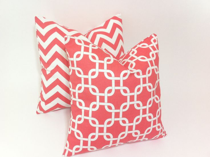 euro sham coral throw pillow 24x24 coral decorative by pillomatic 2300 - Coral Decorative Pillows
