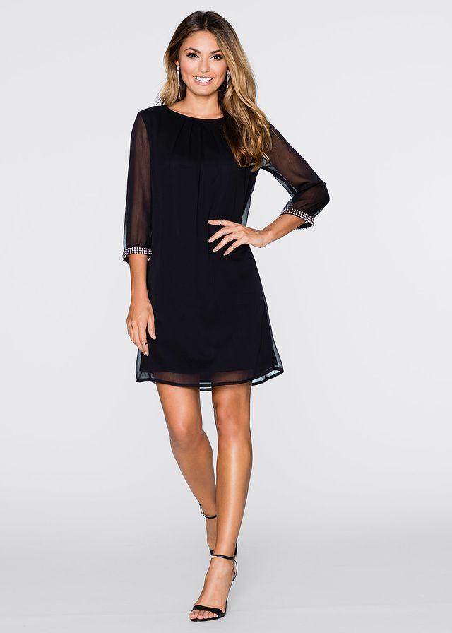 Zwiewna sukienka szyfonowa czarna na wesele i na co dzień • 139.99 zł • // Beauty chiffon black dress for wedding quests
