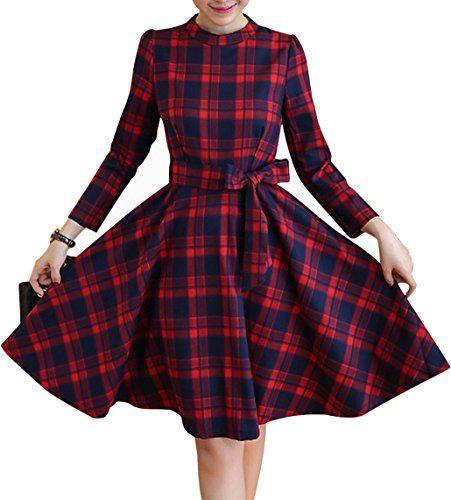 Yomoko Women's Vintage Plaid Long Sleeve Evening Rockabil... https://smile.amazon.com/dp/B01LCRRGFQ/ref=cm_sw_r_pi_dp_x_ibf6xb8P5HHCZ
