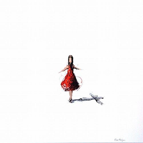 "Clare Hartigan, ""Shadows"" #art #paintdrips #pollock #shadows #girl #splatter #painting #DukeStreetGallery"