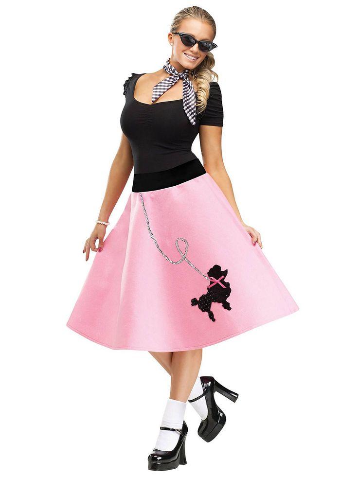 Amazing Pink Poodle Skirt Costume  Womens Fifties CostumesNeweggcom