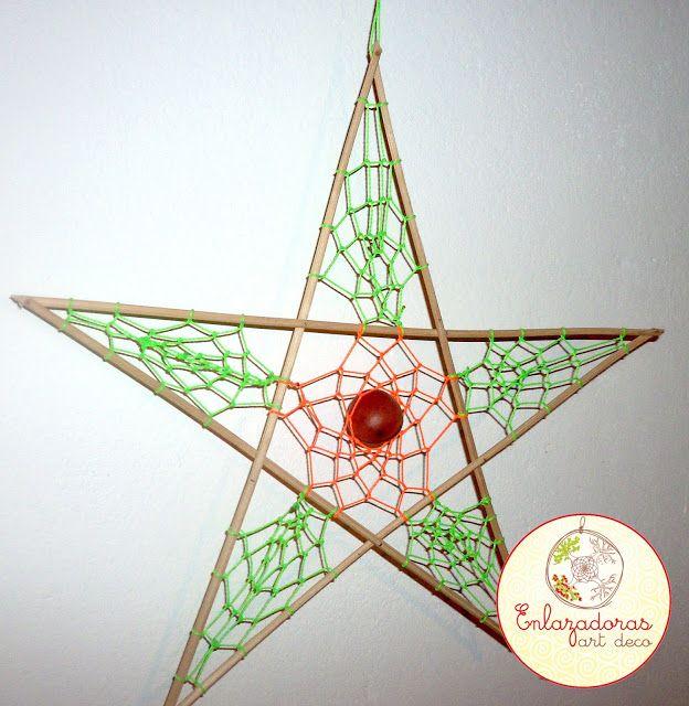 Enlazadoras Art Deco: Estrella atrapasueños
