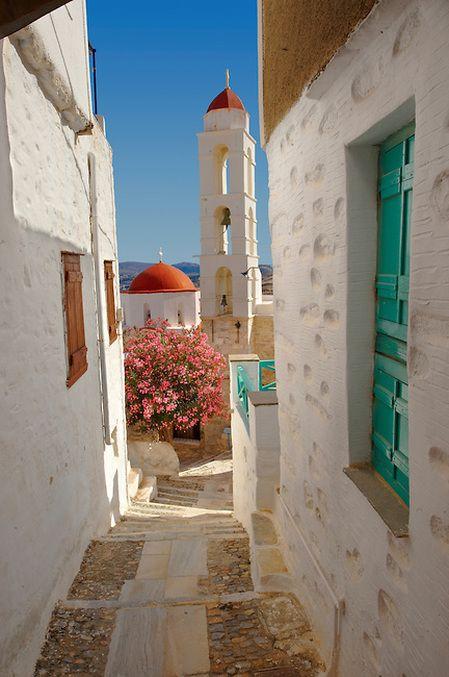 Ano Syros, Syros Island, Greece.