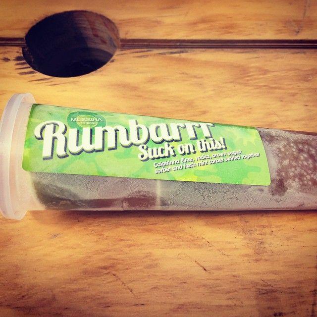 RUMBARRR - Caipirinha (lime, vodka, brown sugar) sorbet and fresh mint sorbet swirled together. Taste the rhythm... *Available until 22nd March #spectrumnow #messinamilkbar
