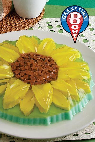 Sunflower delight! Gelatin Cake