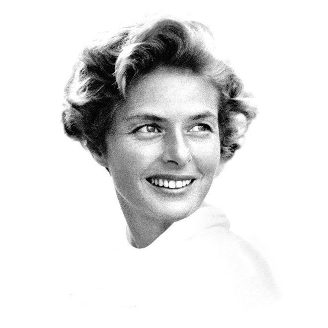 El festival de Cannes rinde tributo a la actriz Ingrid Bergman con un póster que ilustra una fotografía de otro mito, David Seymour, más conocido como Chim. El rostro de Ingrid Bergman sonriente mira al infinito.  http://cultura.elpais.com/cultura/2015/05/15/actualidad/1431681120_497173.html