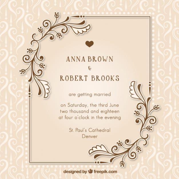 Wedding Invitation Card Template Psd Free Download Wedding