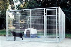 10' x 10' Complete Kennel, Magnum Kennels - Galvanized