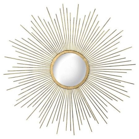 Metal Sunburst Mirror Aged Gold - Threshold™ : Target