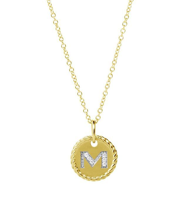 David Yurman Cable Collectibles Initial Pendant Necklace