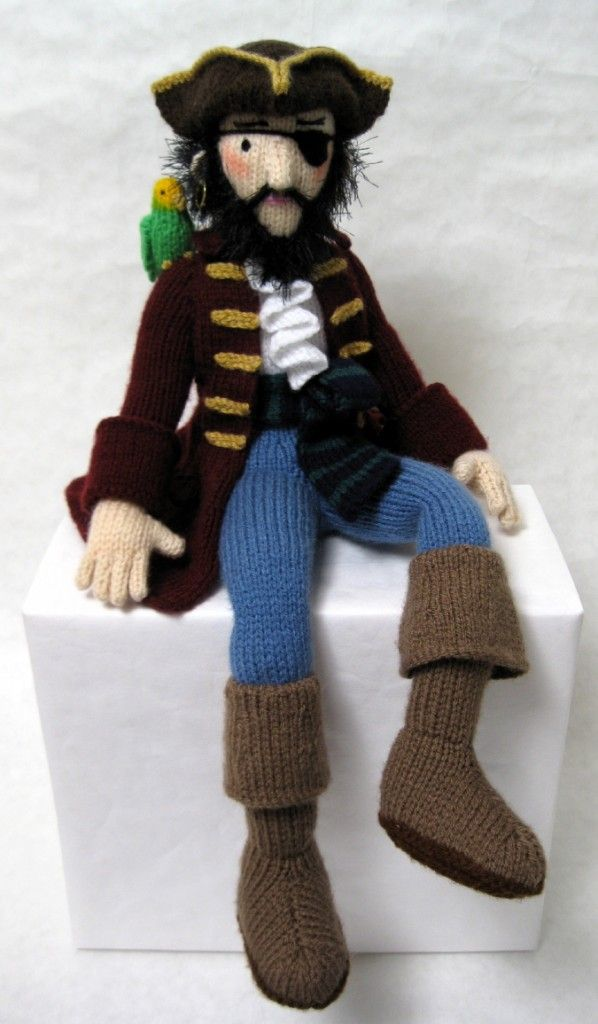Pirate - Price:£2.50 - Yo ho ho - get knittin', me hearties! - A twelve page (knit) pattern; Measurements 41cm/16in tall when sitting