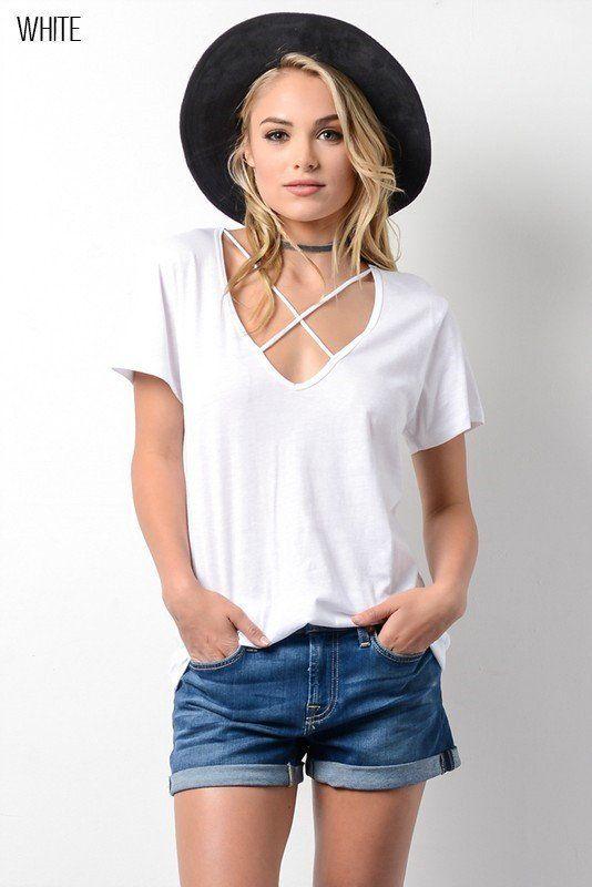 White Criss Cross Shirt
