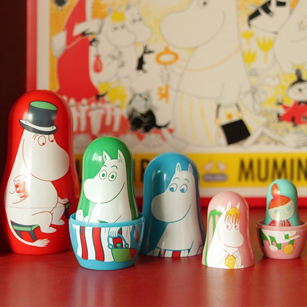 Moomin X the little dröm store – Nesting Dolls! We're super excited to collaborate with Moomin to design a series of Moomin products, in celebration of Tove Jansson's 100th year anniversary! http://shop.thelittledromstore.com/product/moomin-x-drom-brooch-nesting-dolls