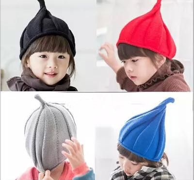2016 Hot Children winter warm knitted stripe brand fox fur pom pom ball kids crochet hat beanie skull cap girl Adults can wear