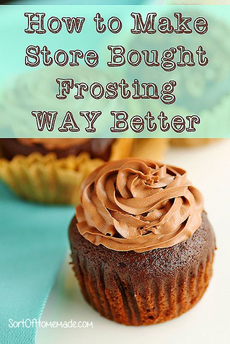 How to make store bought chocolate frosting taste like homemade
