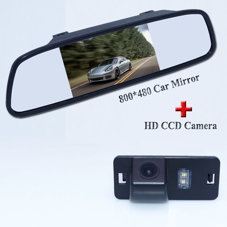 For BMW 3 series for BMW 5 series auto car parking camera bring night vision function Abs shell car rear mirror 4.3 inch