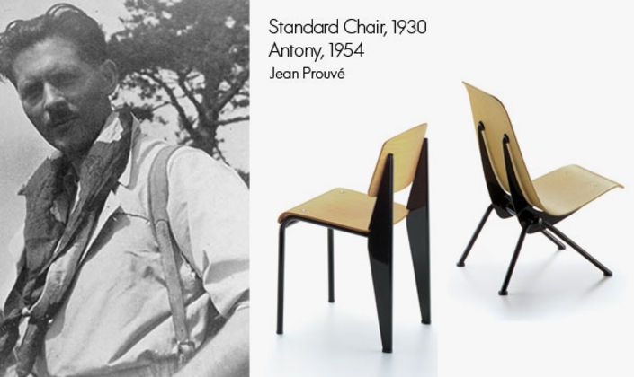 Jean Prouvé has contributed many pieces to the Vitra collection. The Standard Chair and Antony are only two out of many.