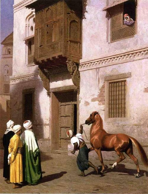 Horse Merchant in Cairo. Jean-Léon Gérôme. Oil on canvas 1867