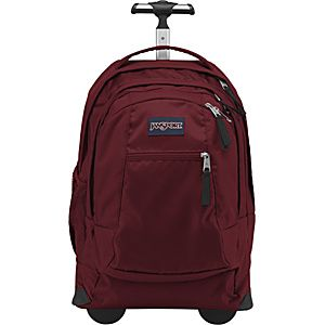 Driver 8 Wheeled backpack from JanSport. Based on reviews this is the one. Many reviews stated this backpack made it all the way through nursing school with huge books. Quiet wheels are also appealing.