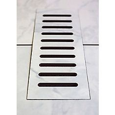 Ceramic vent cover made to match Carrara tile. Size - 5 Inch x 11 Inch
