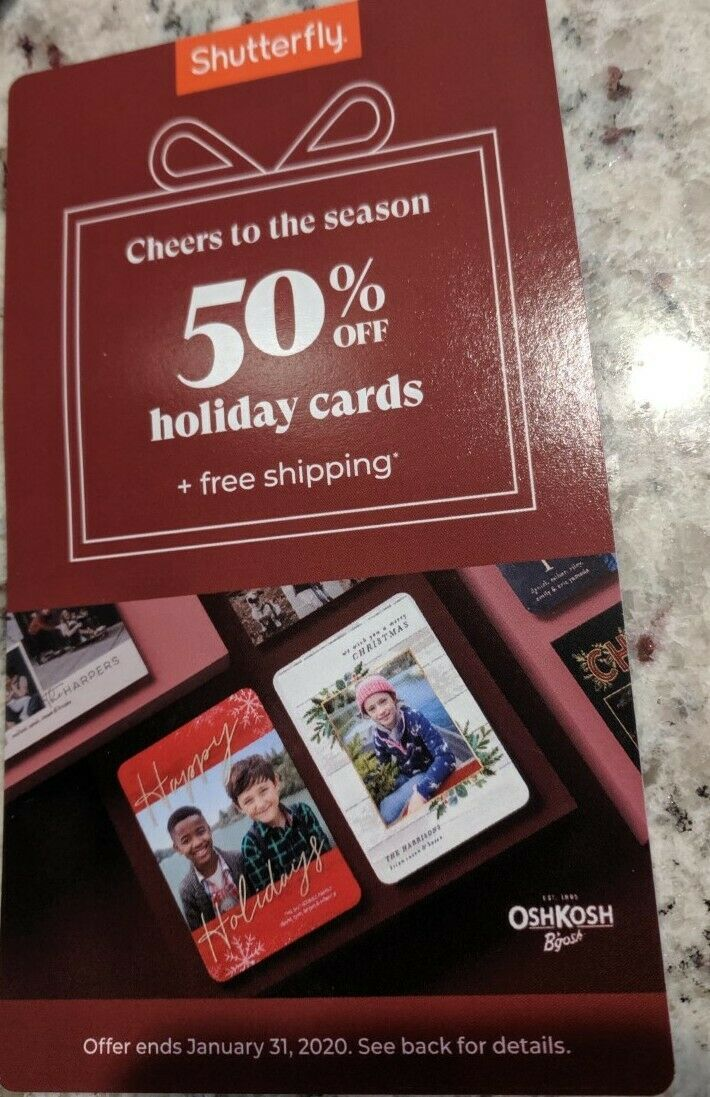 Shutterfly 50 Off HOLIDAY CARDS + shipping code valid