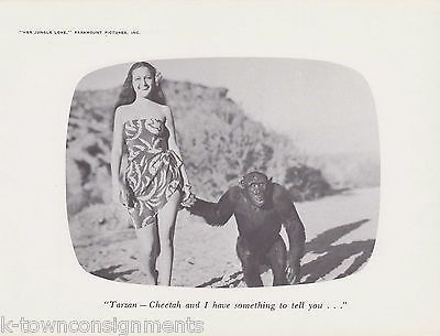 TARZAN & CHEETAH CHEATING HUMOR DECOR VINTAGE 1960s PHOTO PRINT