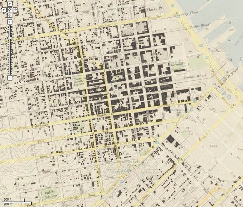 Mashup Of One Of The Earliest U S Coast Survey Maps Of San Francisco 1853 Layered On Top Of Google Maps Super Interesting To See How Closely The Former