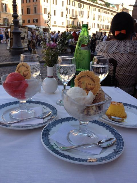 Gelato in Piazza Navona, Rome