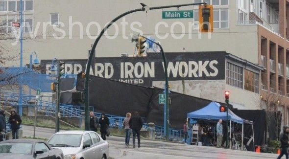 SHOOT: FIFTY SHADES OF GREY Films Drunk Ana (Dakota Johnson) Scene at Burrard Iron Works | yvrshoots