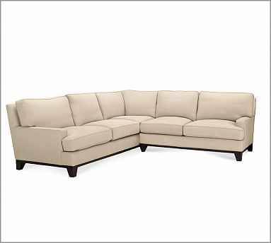 York Square Arm Sofa With Bench Cushion Slipcover Twill