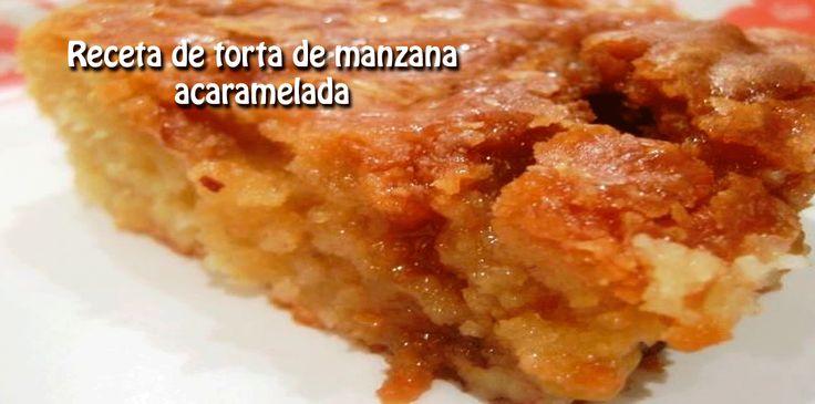 Receta de torta de manzana  acaramelada