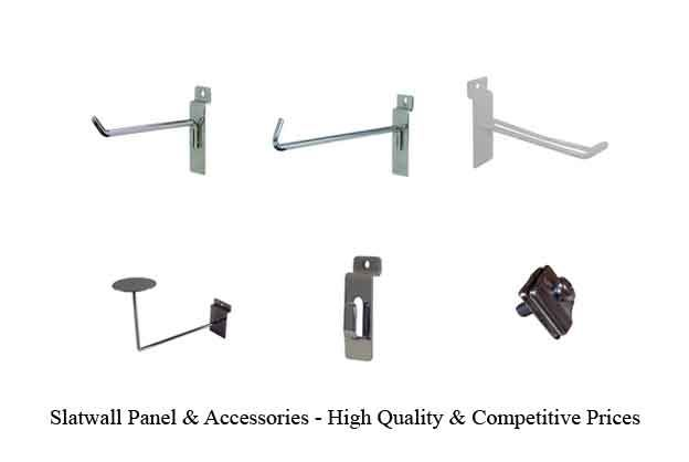 Slatwall Panel & Accessories - High Quality & Competitive Prices - http://idealdisplays.ca/04_slatwall_accessories.html
