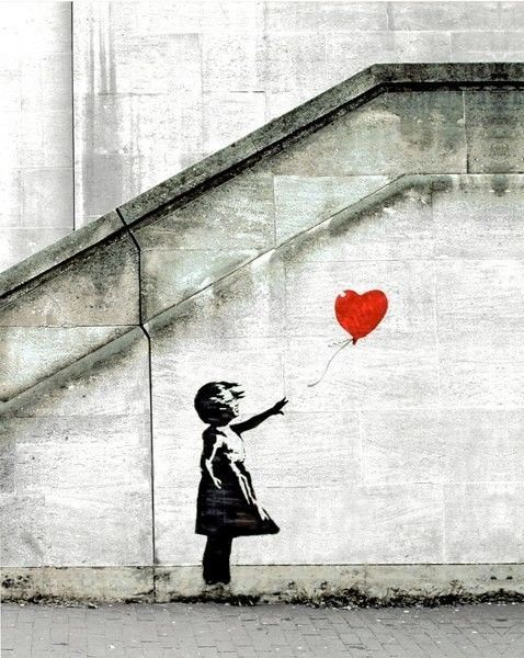 Banksy Red Balloon 16 x 20 poster