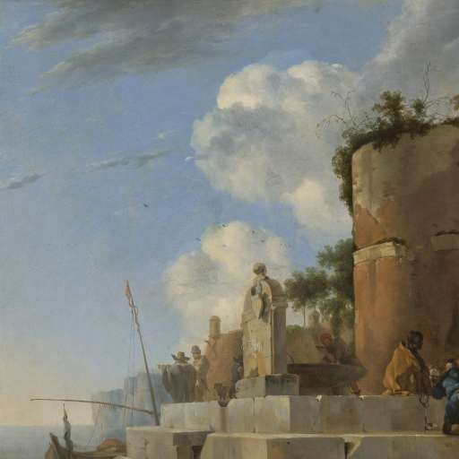 A Coastal Ruin in Italy, Jan Asselijn, 1640 - 1652 - Landscapes - Works of art - Explore the collection - Rijksmuseum