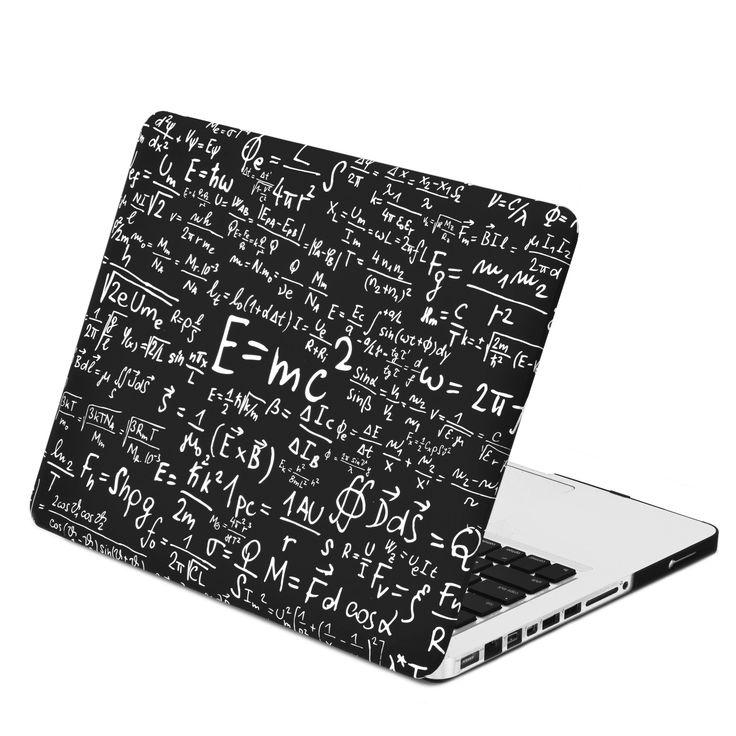 "Black Physics Formulas Rubberized Hard Case for MacBook Pro 13"" Model – TOP CASE"
