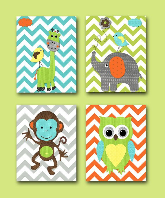 Hey, I found this really awesome Etsy listing at http://www.etsy.com/listing/166229056/monkey-nursery-owl-nursery-giraffe