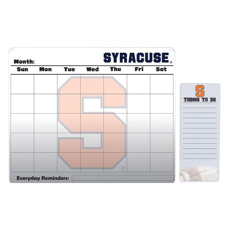 Syracuse Orange Dry Erase Calendar & To-Do List Pad Set, Multicolor