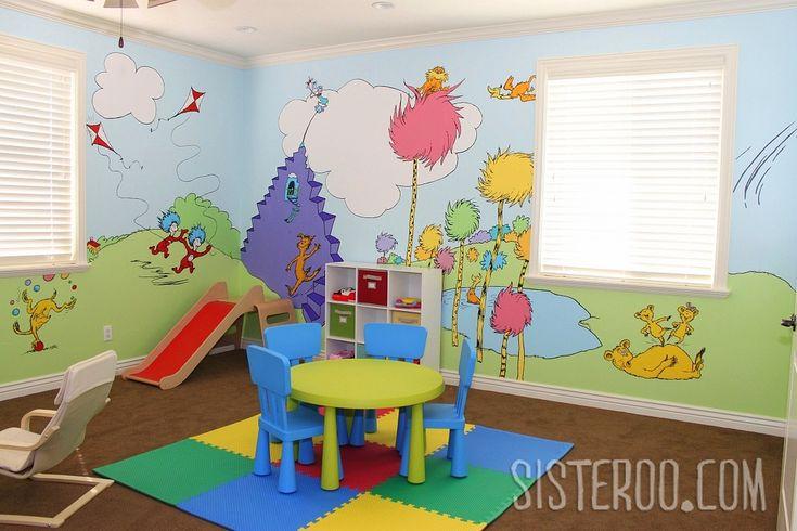 Soooo cuteDr. Seuss Playrooms Ideas, Kids Playrooms, Seuss Room, Play Rooms, Kids Room, Room Ideas, Dr. Suess Playrooms, Dr Suess, Plays Room