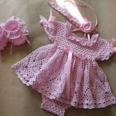 Crochet dress baby girl