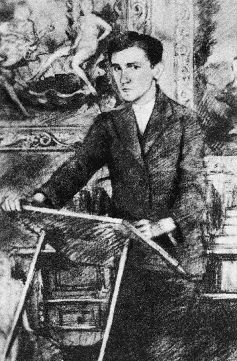 Bruno Schulz (1892-1942) Self-Portrait. Schulz was a painter and writer in the Drohobycz ghetto. He was the author of Cinnamon Shops and Sanatorium under the Hourglass. He was murdered by the Nazis in 1942.