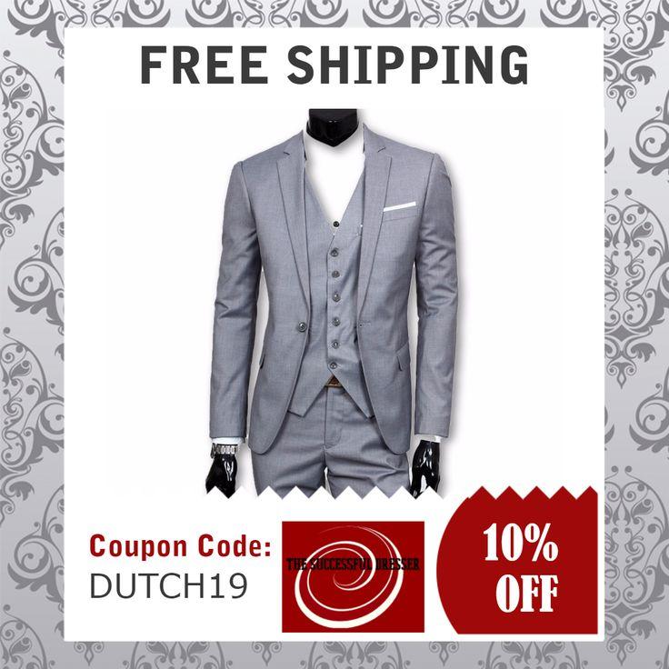 (Suit + Vest + Pants) Men's three-piece suit