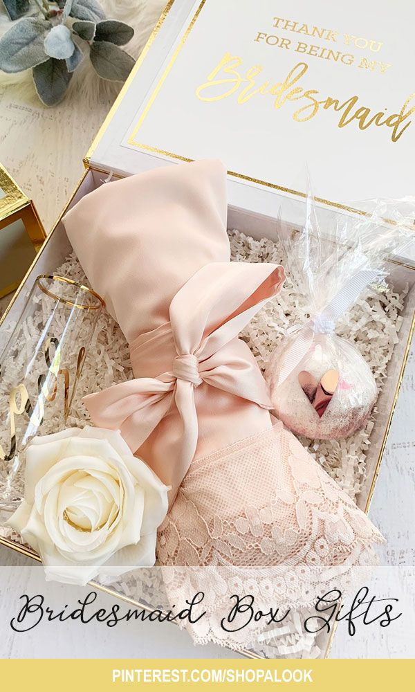 Wedding Inspo Bridesmaid Box Gifts Make Your Gift Look Extra Special With These Pretty Personali Bridesmaid Gift Boxes Bridesmaid Proposal Box Bridesmaid Box