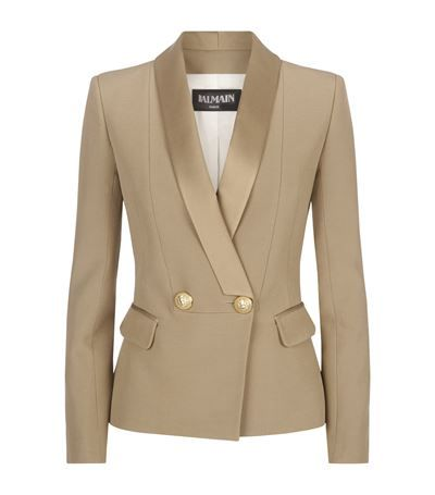 Balmain Crepe Tuxedo Jacket Brown available to buy at Harrods. Shop women's jackets online and earn Rewards points.