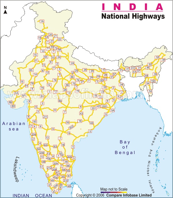 India National Highway Map | India Thematic Maps in 2019 | India map on