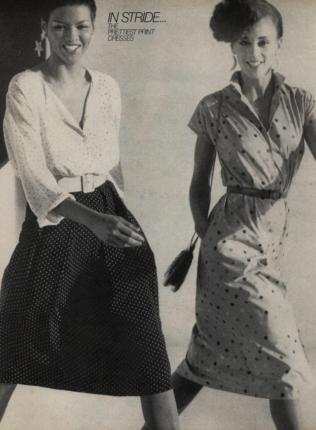 Carol Miles and Alva Chinn for Harper's Bazaar Editorial In Stride: The Prettiest Print Dresses, February 1979. Feelin' these outfits