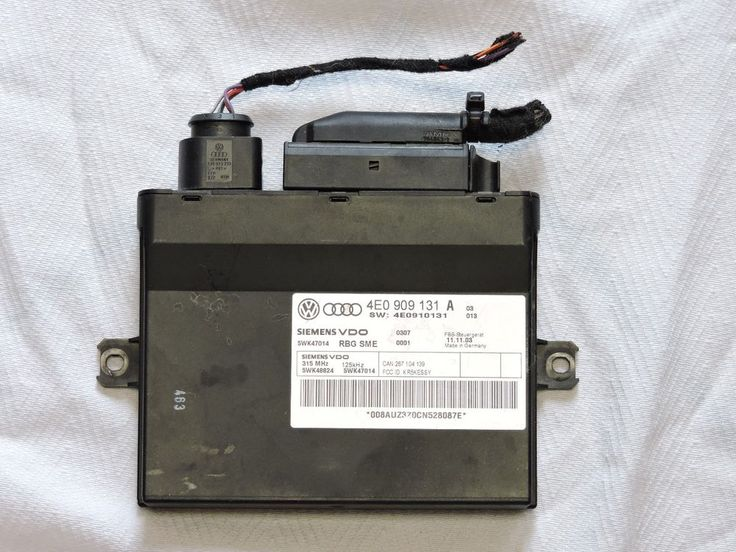 04 05 06 Audi A8 Keyless Lock Module 4E0909131A Theft Locking Control Unit OEM U #siemensaudi